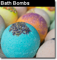 Aromatherapy bath bombs and fizz bath bombs