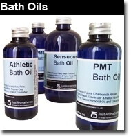 Here you'll find Wonderful Bath Oils in a wide range of tempting fragrances, all made only with Pure Aromatherapy Essential Oils, never with artificial fragrances. Our Bath Oils Are Supplied in Traditional Amber Glass Bottles