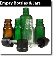 Aromatherapy mixing amber glass bottles, blending, gloves, beakers, blending essential oils and sundries.