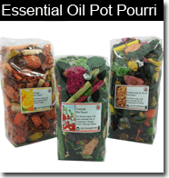 Essential oil pot pourri made with aromatherapy oils and blends