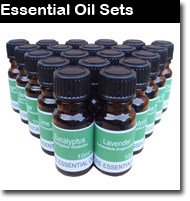 We have put together a number of aromatherapy essential oil gift ideas, and special sets offering great value-for-money, with substantial savings on list prices. There are three different sets of ten Pure Essential Oils, three different sets of 20 Pure Essential Oils and one set of thirty Pure Essential Oils.