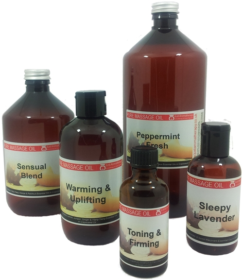 aromatherapy massage oils made with essential oil