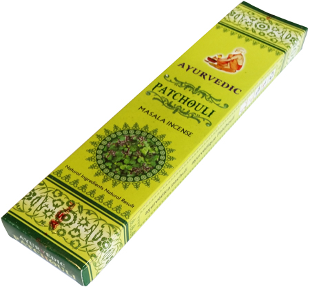 Patchouli Ayurvedic Masala Incense Sticks - Pack of 15 Premium Sticks