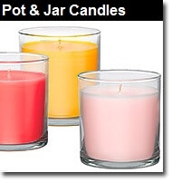 40 Hour Pot candles made from natural soy wax and essential oils.