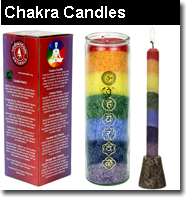 Chakra candles that are sented and unscented fragranced with essential oils chakra candles